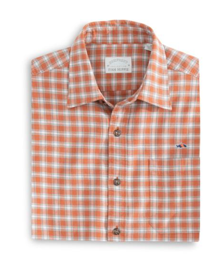 Stonebridge Check Buttondown Rust Fish Hippie