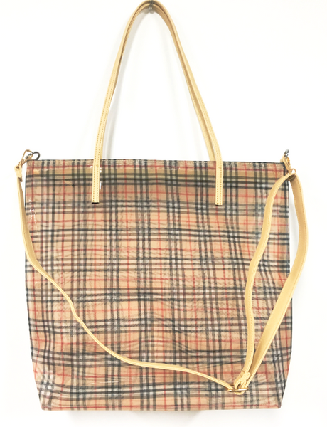 Mesh Tote - Burberry Brown Plaid