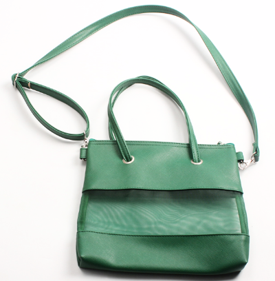 Small Green Mesh Tote Crossbody Bag