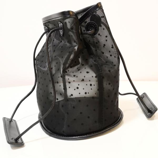 Mesh Bucket Tote - Black
