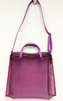 Purple Mesh Shopping Tote Bag