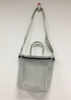 Silver Mesh Shoulder Tote Bag