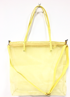 Yellow Mesh Tote Bag