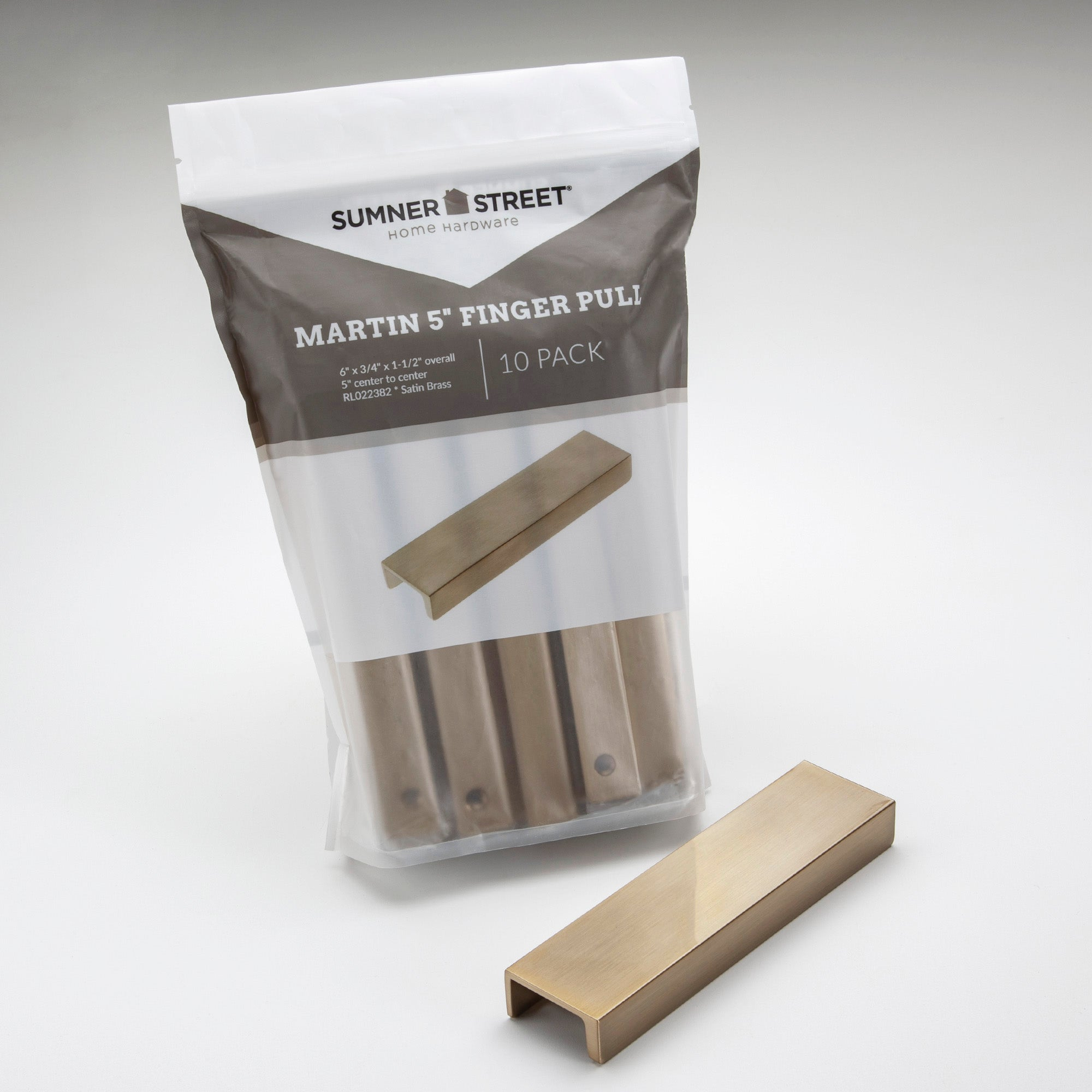 10 Pack Martin 5 Finger Pull Available In Additional Finishes Sumner Street Home Hardware