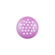 Hand Painted Pink Knob with White Dots