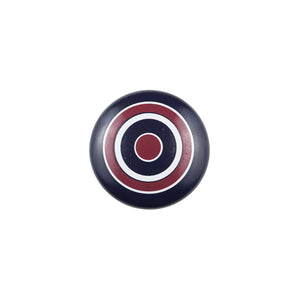Hand Painted Blue Knob with Red White and Blue Circles
