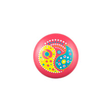 Hand Painted Pink Knob with Yellow Paisley