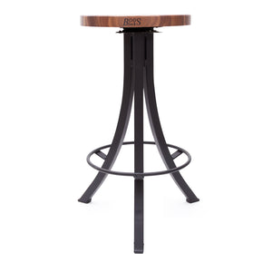 Foundry Collection American Black Walnut Bistro Stool with Swivel