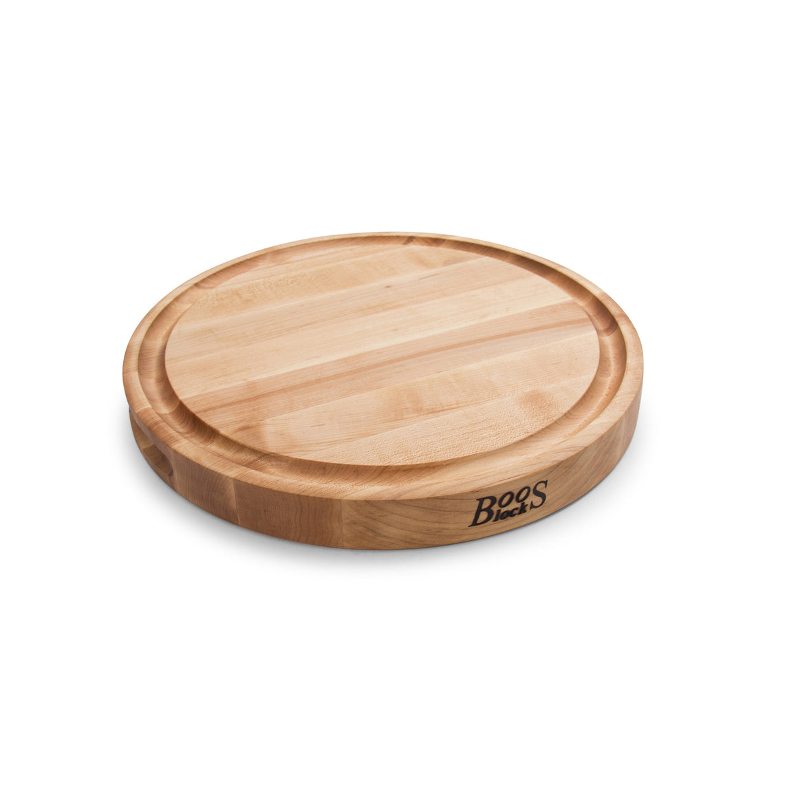 "Maple Round Cutting Board With Juice Groove 1-3/4"" Thick (Chef's Collection)"