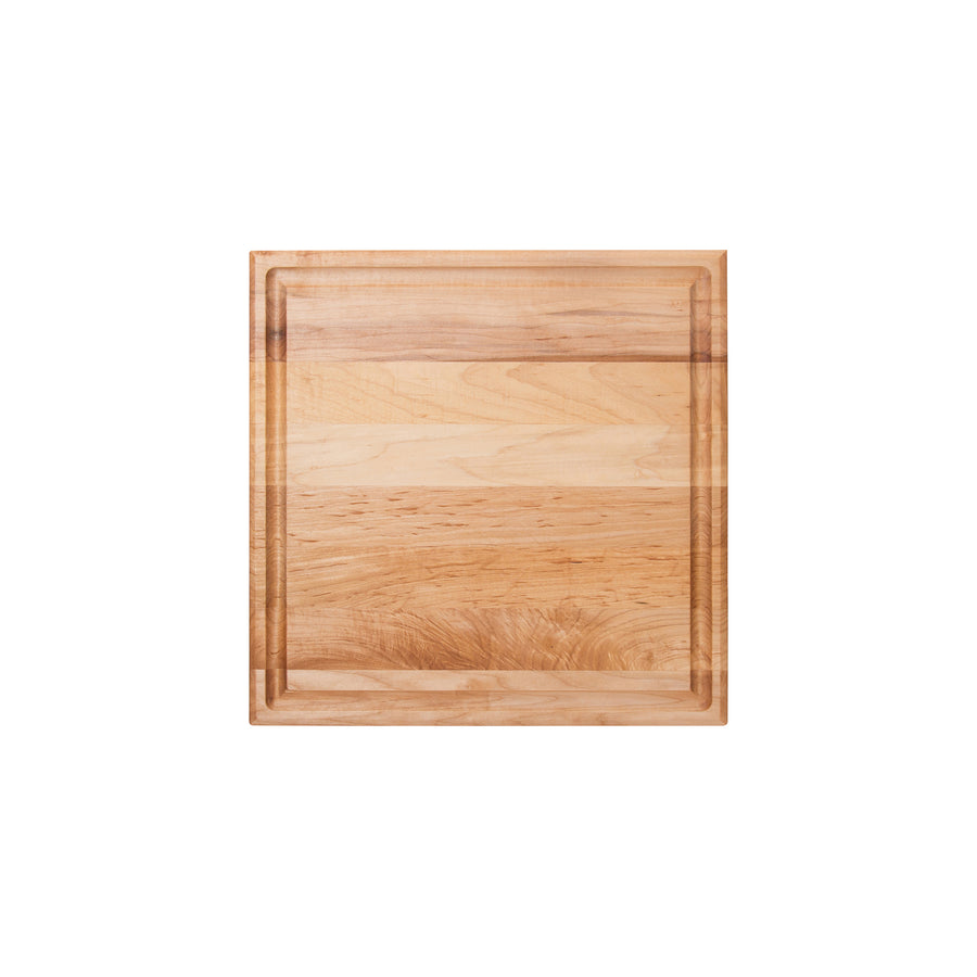 "Maple Square Cutting Board With Juice Groove 1-3/4"" Thick (Chef's Collection)"