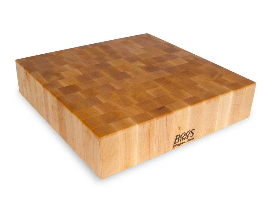 "Maple Square Chopping Block 4"" Thick (Non-Reversible)"