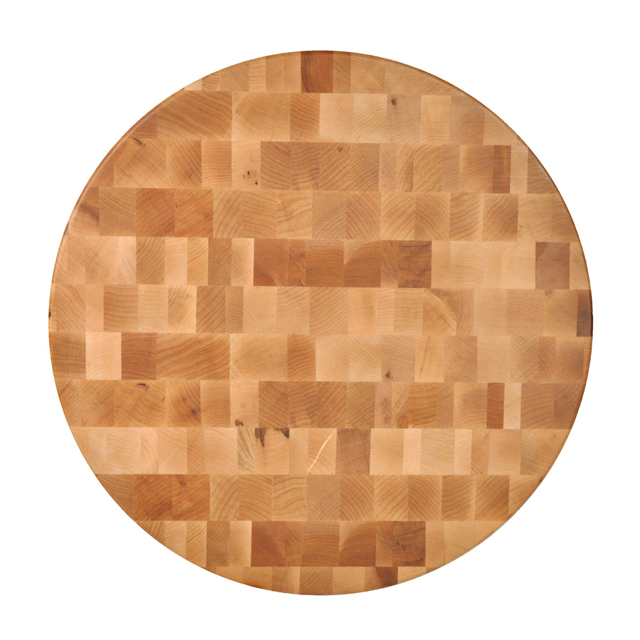 "Maple Round Chopping Block 3"" Thick (Non-Reversible)"