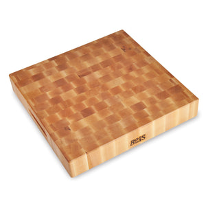 "Maple Square Chopping Block 3"" Thick (Reversible)"