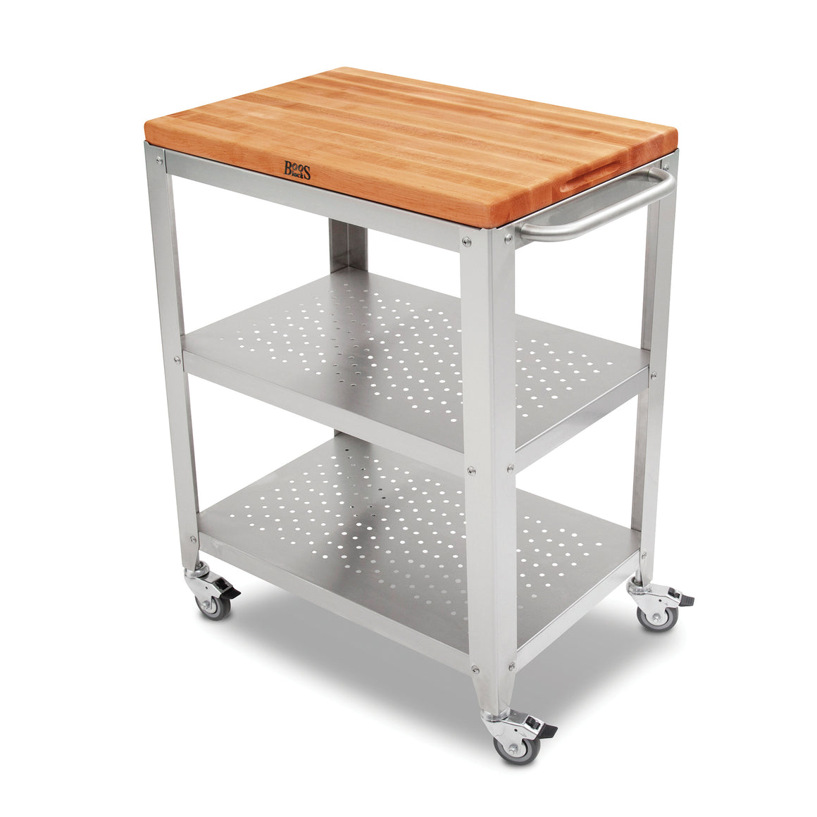 "Culinarte Kitchen Cart - 20"" X 30"" Removable Cherry Cutting Board Top"
