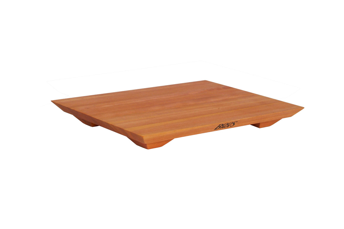 Cherry Fusion Edge Grain Cutting and Serving Board with Feet, 20 Inches x 15 Inches x 1 Inch