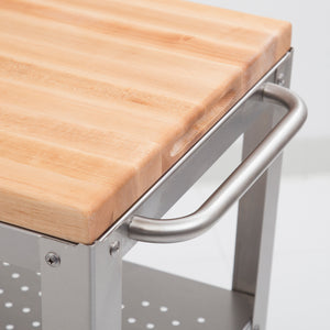 "Culinarte Kitchen Cart - 20"" X 30"" Removable Maple Cutting Board Top"