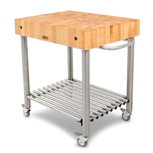 "Maple Cucina D'Amico Cart - 30"" x 24"""