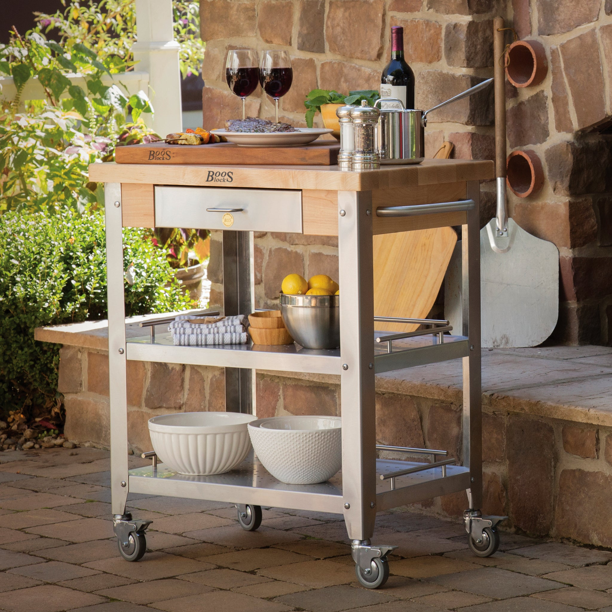"Cucina 4 X 4 cucina elegante kitchen cart 30-3/4"" x 20"""