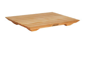 Northern Rock Hard Maple Fusion Edge Grain Cutting and Serving Board with Feet, 20 Inches x 15 Inches x 1 Inch