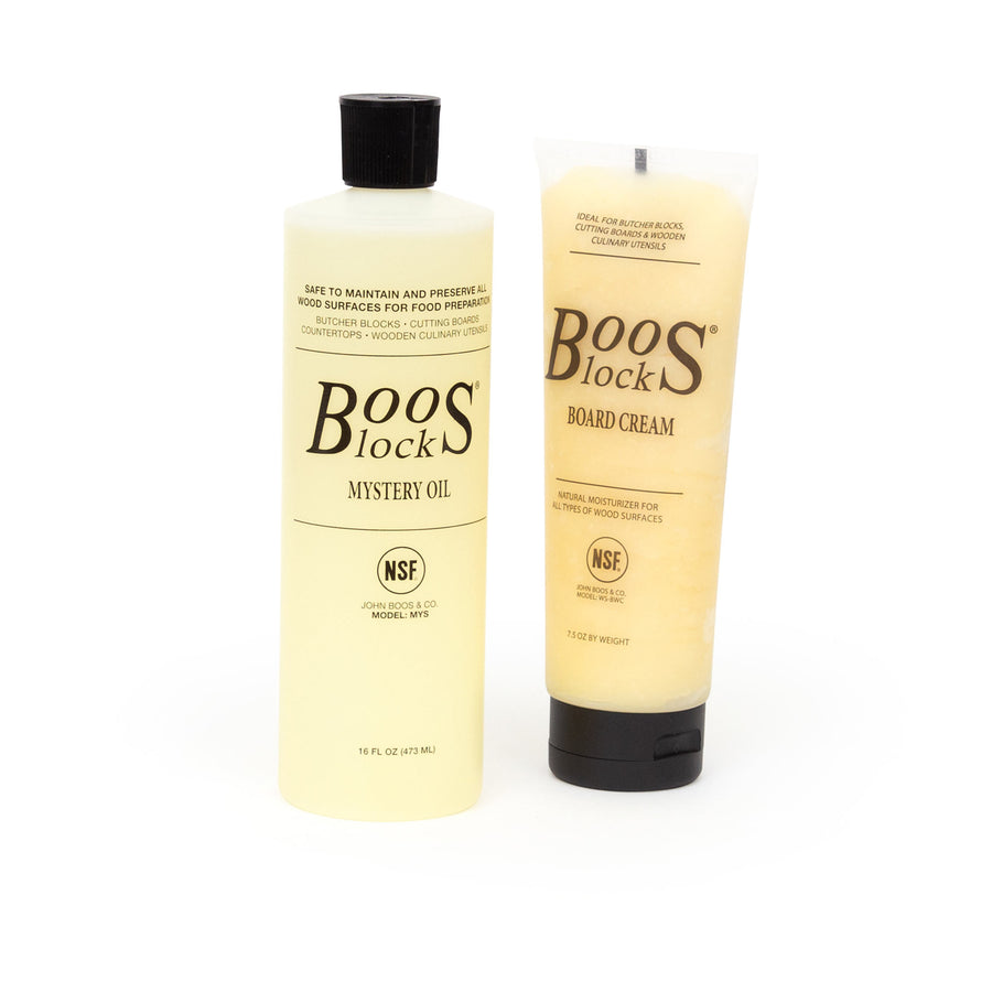 Boos Mystery Oil 16oz. and Boos Board Cream 7.5 oz. Gift Pack (GP 1) Plus FREE Applicator