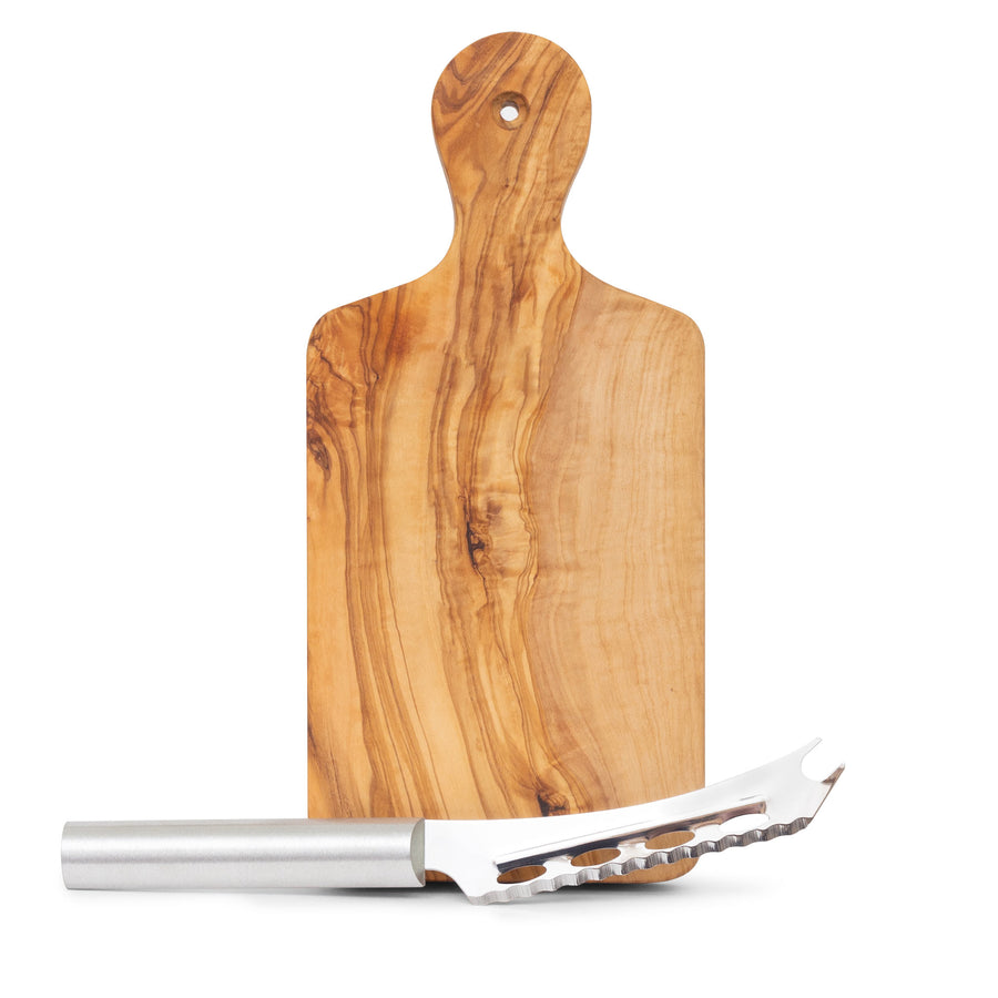 "Natural Olive Wood Paddle Board 10"" Gift Pack (GP 22)"