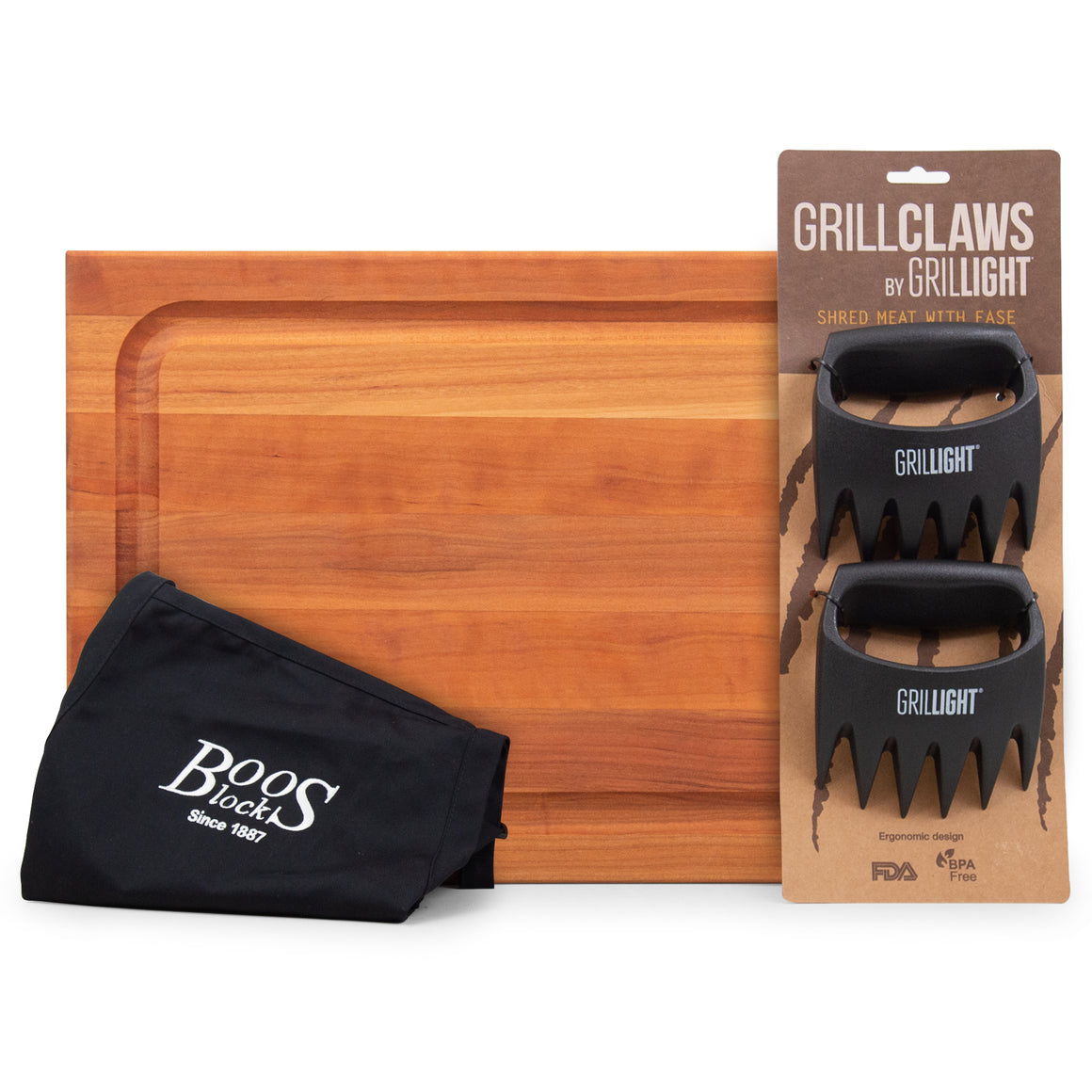 Holiday Gift Pack -Cherry BBQ Cutting Board Gift Pack (GP102)
