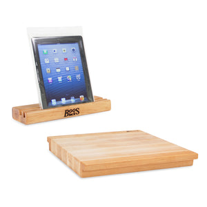 Maple iBlock Cutting Board & Mobile Device Stand