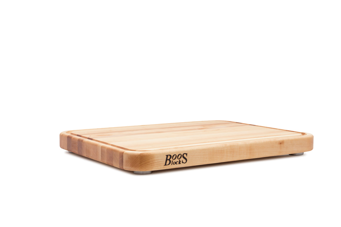 Tenmoku Maple Cutting Board with Stainless Steel Feet