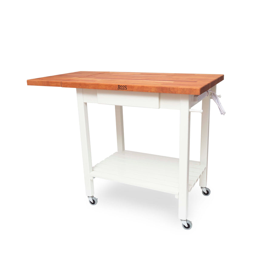 "Cherry Deluxe Culi Cart - Alabaster Base 36"" X 24"""