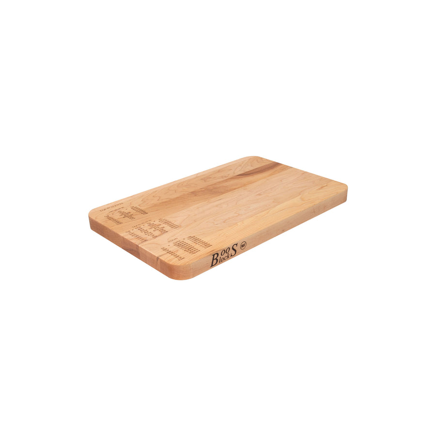 Maple Measurement Conversion Cutting Board