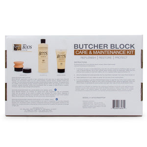 Boos Block Care & Maintenance Kit For Butcher Blocks & Cutting Boards