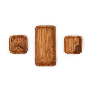 JOHN BOOS natural olive wood collection SET OF DISHES 8.5""