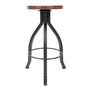 Foundry Collection American Black Walnut Pub Stool with Swivel