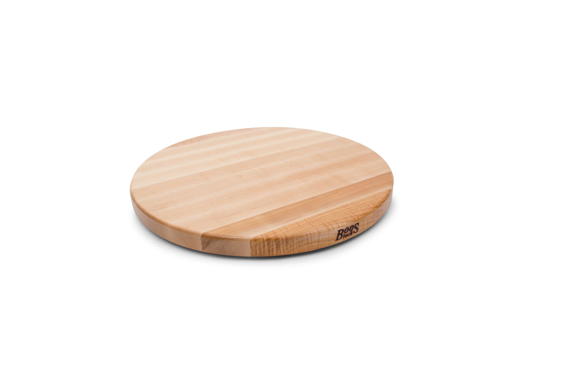 "Maple Round Lazy Susan 1-1/4"" Thick"