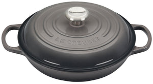 Le Creuset Signature Braiser with Stainless Steel Knob - Oyster