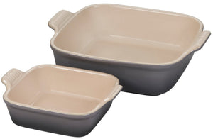 Le Creuset Heritage Set of 2 Square Dishes - Oyster
