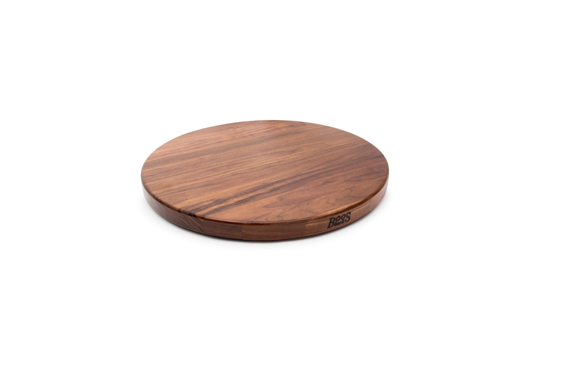 "Walnut Round Lazy Susan 1-1/4"" Thick"