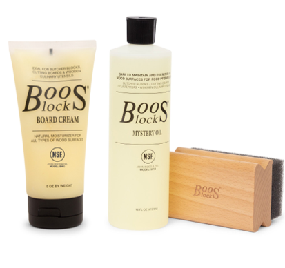 Boos Care Kit Mystery Oil, Cream and Rectangle Applicator Gift Pack (GP 103)