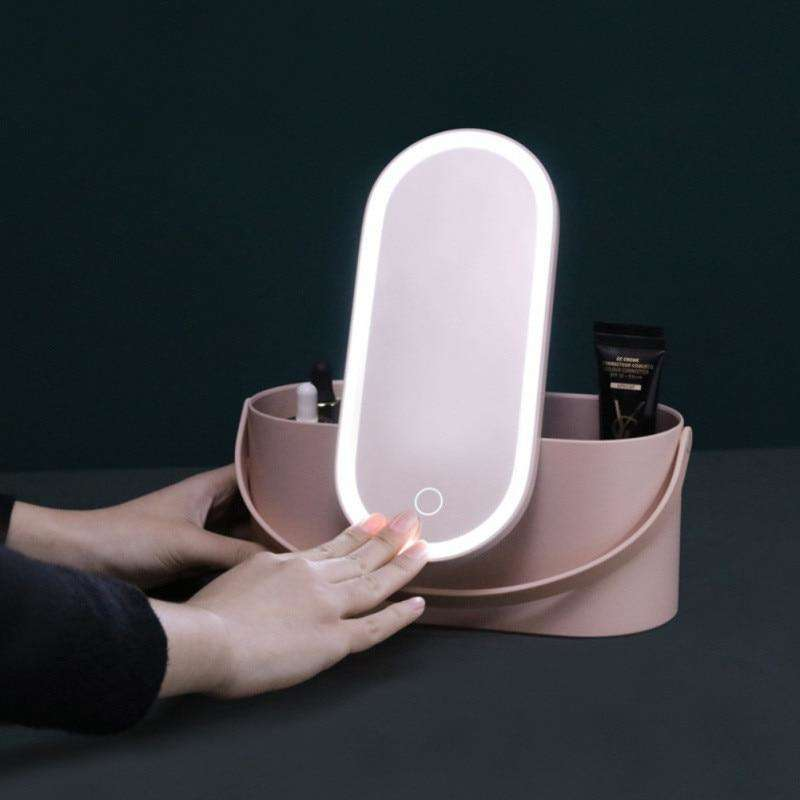Cosmetic Organizer w/LED Mirror