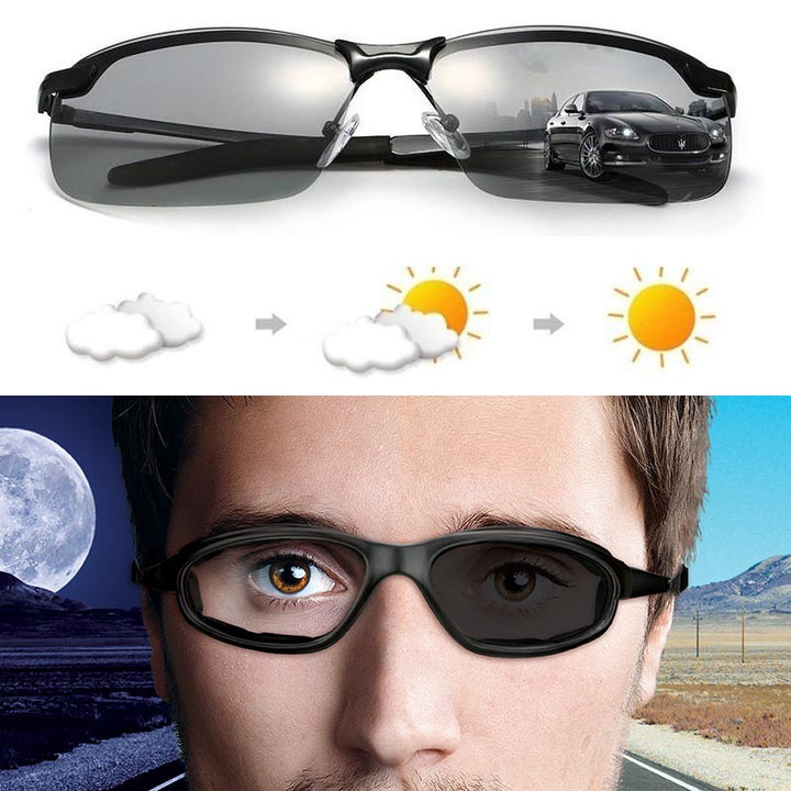Smart Photochromic Polarized Sunglasses 100% UV Protection, Anti Glare, Reduce Eye Fatigue