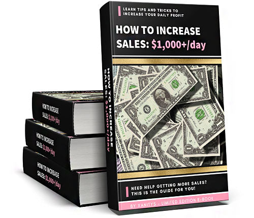 How to INCREASE Sales: $1,000/day | E-Book
