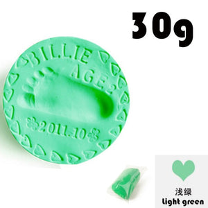Baby footprint ultra light stereo Baby Care Air Drying Soft Clay Baby hand foot Imprint Kit Casting DIY Toys paw print pad 30g