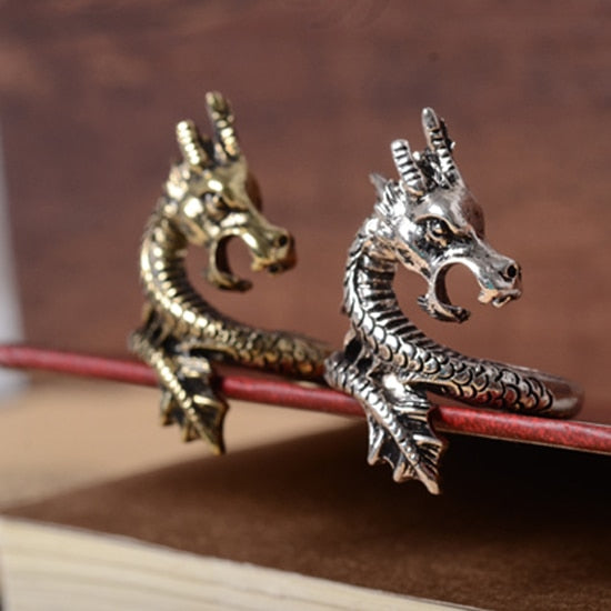 Retro Vintage Dragon Ring Jewelry Gift for Men and Women  enter