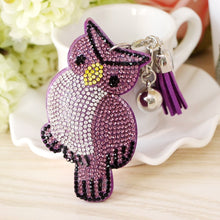 "Load image into Gallery viewer, Cute Owl Pendant Tassel Keychain enter ""free"" at checkout for FREE SHIPPING"