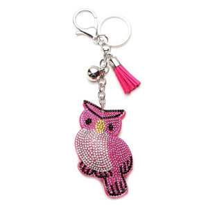 "Cute Owl Pendant Tassel Keychain enter ""free"" at checkout for FREE SHIPPING"