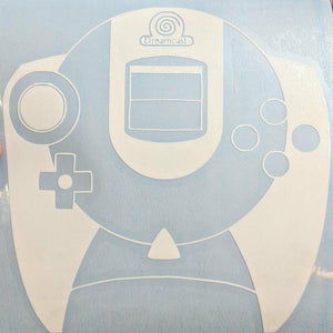 Classic Sega and Sega Dreamcast Console Controller Vinyl Decals for Home Car Laptop