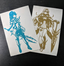 Load image into Gallery viewer, Xenoblade Chronicles Inspired Mythra and Pneuma Vinyl Decals