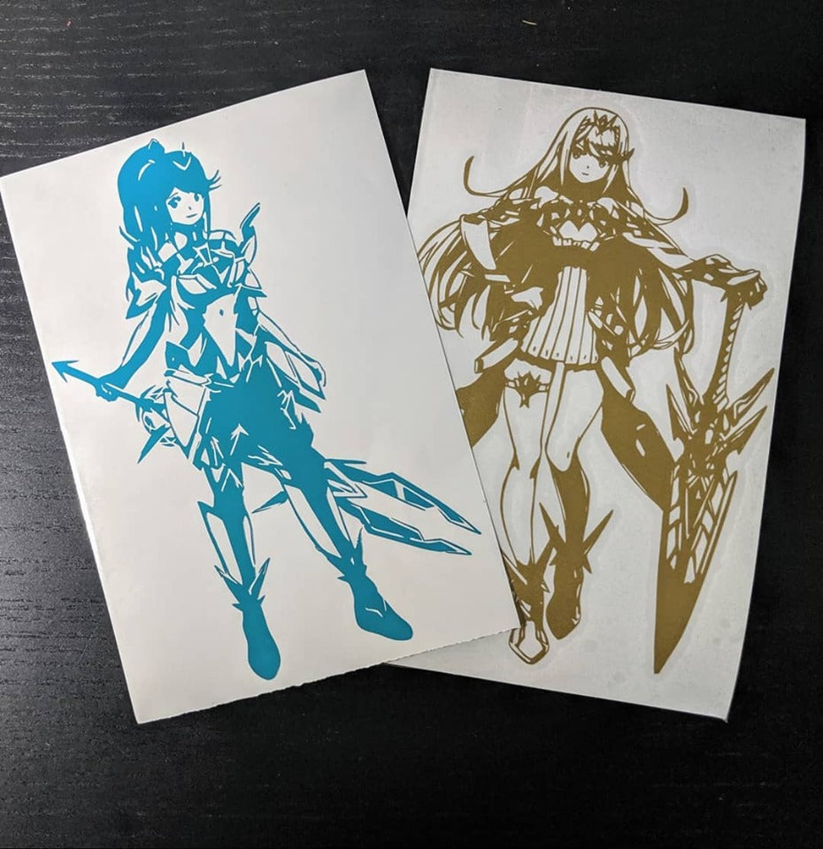 Xenoblade Chronicles Inspired Mythra and Pneuma Vinyl Decals