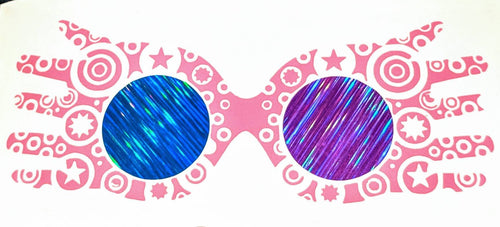 Harry Potter Luna Lovegood Decorated Spectrespecs with Holographic Lenses Vinyl Decal