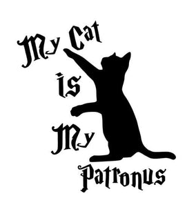 Harry Potter My Cat Is My Patronus w/ Cat Vinyl Decal for Car, Laptop, Home